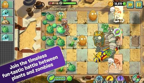 download Plants Vs Zombies 2 in Plants vs zombies 2 mod apk unlimited money
